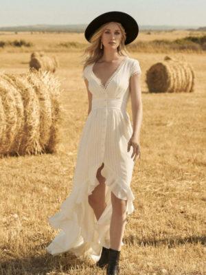 Bohemian trouwjurk
